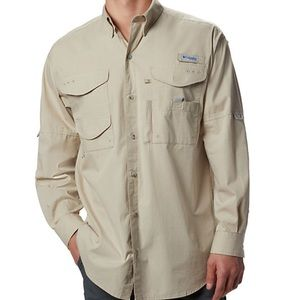 Columbia Performance Button Down- RUNS BIG